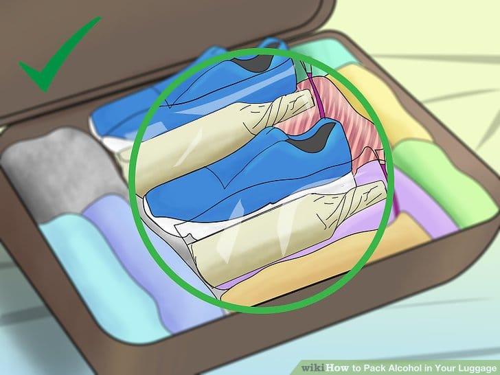 Как упаковать алкоголь в багаж